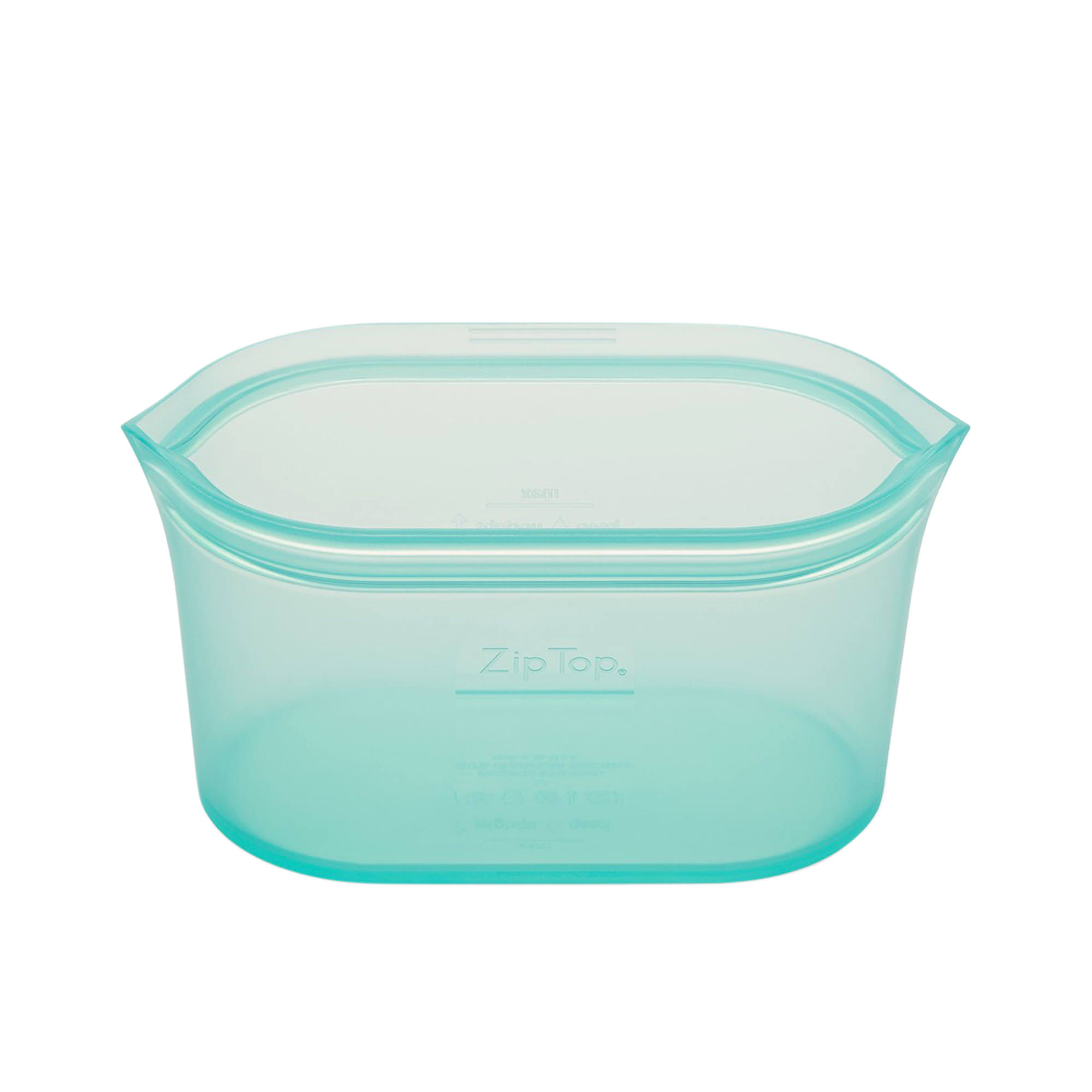 Zip Top Platinum Silicone Medium Dish Container 710ml Teal