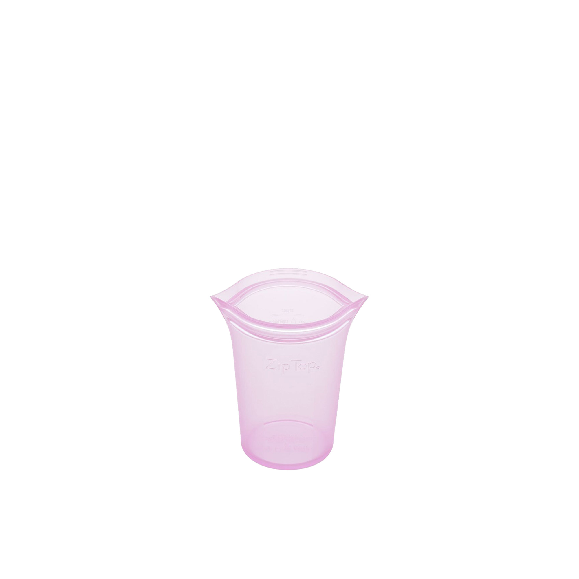 Zip Top Platinum Silicone Small Cup Container 237ml Lavender