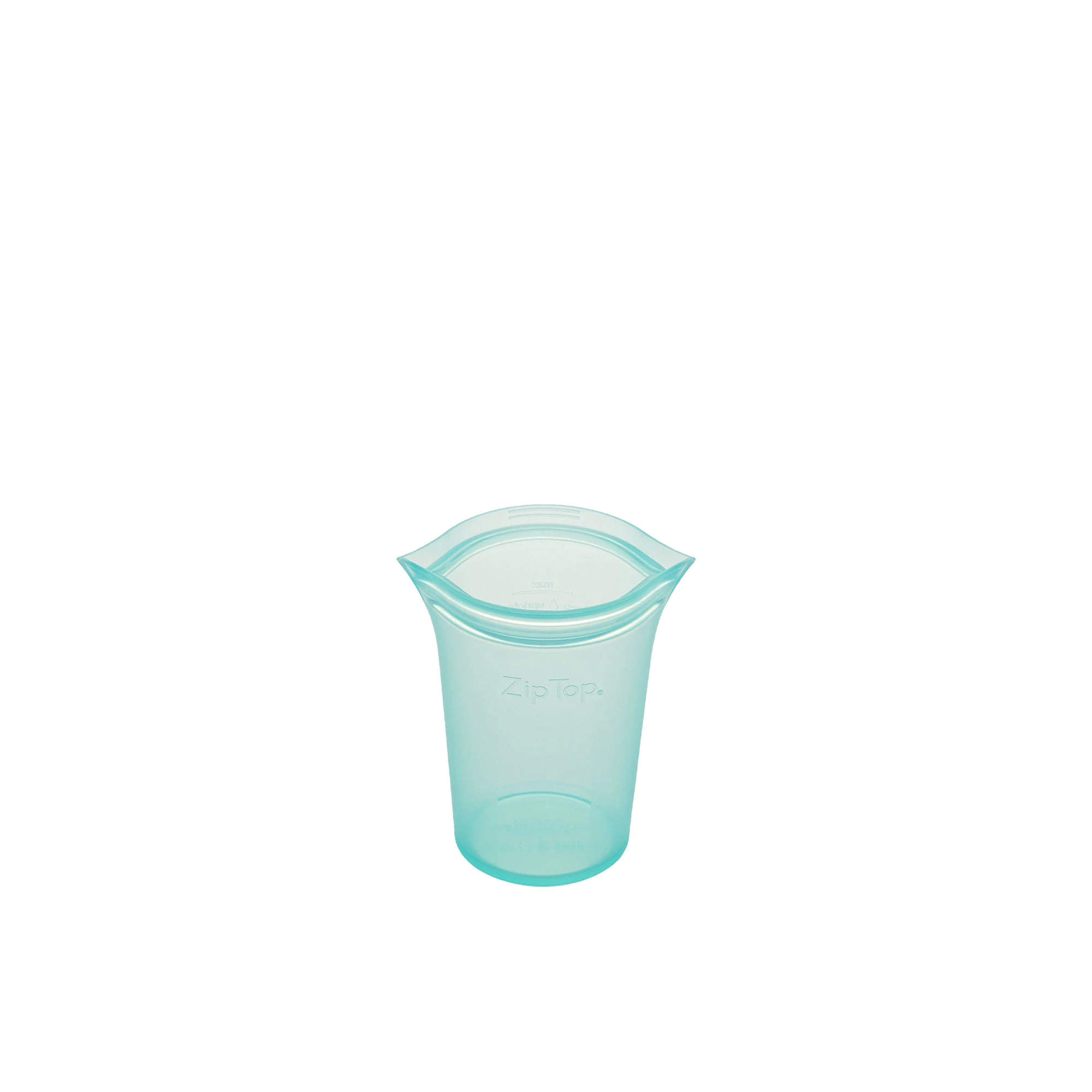 Zip Top Platinum Silicone Small Cup Container 237ml Teal