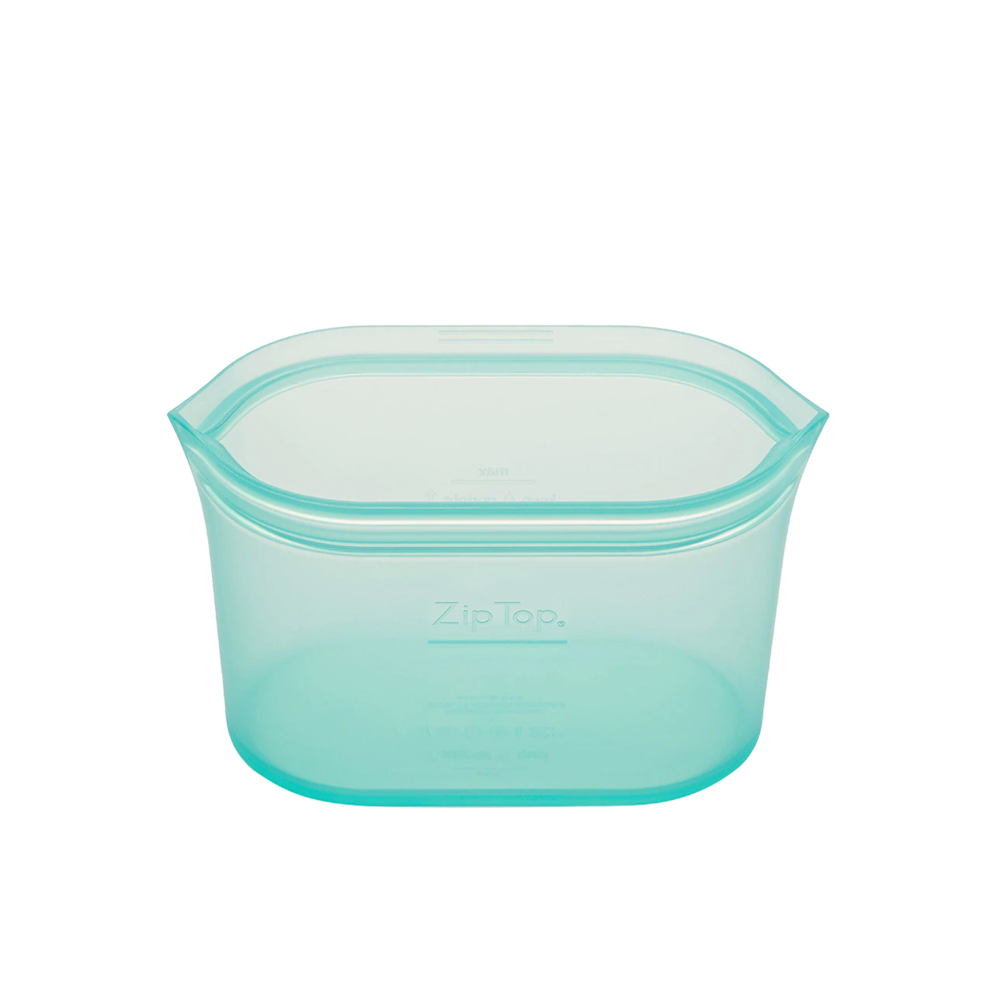 Zip Top Platinum Silicone Small Dish Container 473ml Teal