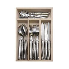 Laguiole by Andre Verdier Debutant <b>Cutlery</b> Set Mirror 24pc Stainless
