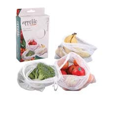 Appetito Woven Net Produce Bags 3pc