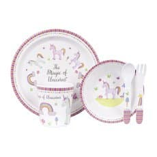 Ashdene <b>Dinner</b> Set 5pc Unicorn Magic
