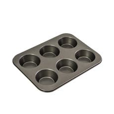 Bakemaster Non Stick 6 Cup Large Muffin Pan 35x26x4cm