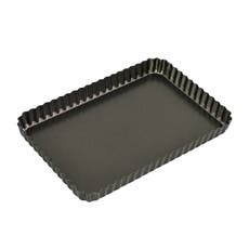 Bakemaster Non Stick Loose Base Fluted Rectangular Quiche Pan 31x21x3.5cm