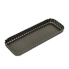 Bakemaster Non Stick Loose Base Fluted Rectangular Quiche Pan 36x13x3.5cm