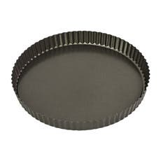 Bakemaster Non Stick Loose Base Round Quiche Pan 30x3.5cm