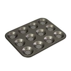 Bakemaster Perfect Crust Non Stick 12 Cup Shallow Baking Pan 32x24cm