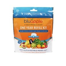 Bluapple Classic Fruit & Vegetable Saver One Year Satchel Refill Kit