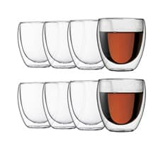 <b>Bodum</b> Pavina Double Wall Glasses 250ml - Buy 6 Get 8
