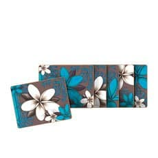 Aqua Frangipani Coasters Set of 6