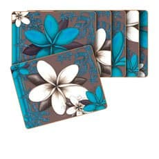 Aqua Frangipani Placemats Set of 6
