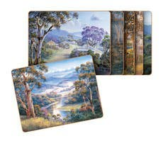 Cinnamon Bradley's Streams Placemats Set of 6