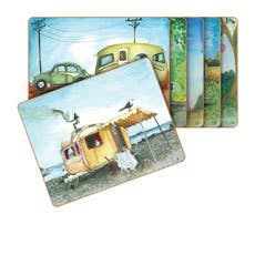Cinnamon Vintage Caravan Placemats Set of 6