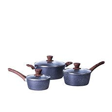 Clevinger 3pc Non-Stick Cookware Set