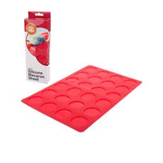 Daily Bake Silicone Macaron Sheet 24 Cup Red