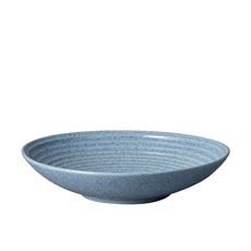Denby Studio Blue Ridged Bowl 31cm Flint