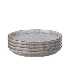 Denby Studio Grey Medium Coupe Plate 21cm Set of 4