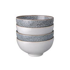 Denby Studio Grey Rice Bowl 13cm Set of 4 White