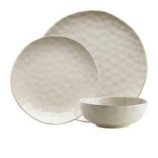 Ecology Speckle Dinner Set 12pc Oatmeal