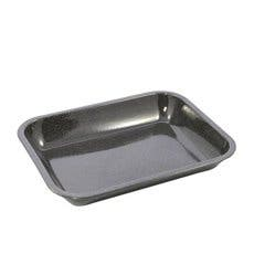 Falcon Enamel Oblong Bake Pan 37x30cm Black