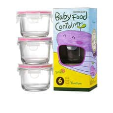 Glasslock Round Baby Food <b>Container</b> 3pc Set 165ml