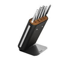 Global Hiro 7pc Knife Block Set Black