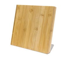 IconChef Magnetic Knife Block Stand with Stainless Steel Base Bamboo