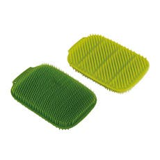 Joseph Joseph CleanTech 2pk Washing-Up Scrubber Green/Dark Green