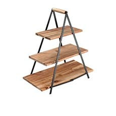 Ladelle Serve & Share Acacia 3 Tier Serving Tower