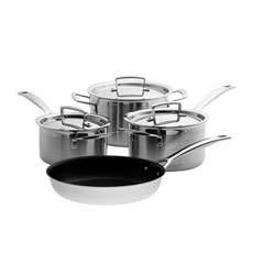 Le Creuset 3-Ply Stainless Steel 4pc Cookware Set