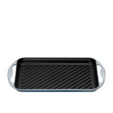 Le Creuset Cast Iron Rectangular Grill 32.5cm Coastal Blue