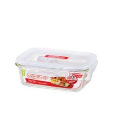 Lock & Lock Glass Rectangular Container 630ml