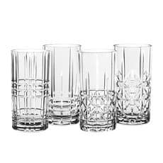 Highland Mixed Glass Long Drink 375ml Set of 4