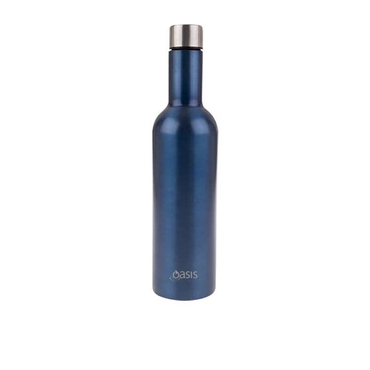 Oasis Double Wall Insulated Wine Traveller 750ml Sapphire