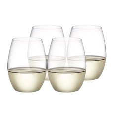 Plumm Stemless WHITE+ Wine Glass 398ml Set of 4