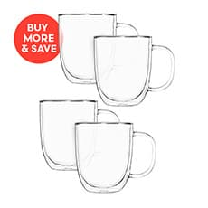 2pc Double Wall Mug Set 250ml (2 Sets)