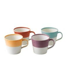 Royal Doulton 1815 Tableware Mug Set of 4 Warm Colours