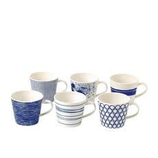 Royal Doulton Pacific 6pc Mixed Mug Set 390ml Blue