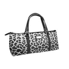 Sachi Insulated <b>Wine</b> Purse Leopard Grey