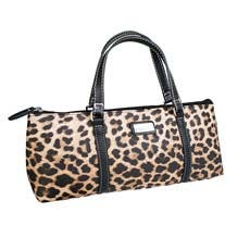 Sachi Insulated Wine Purse Leopard