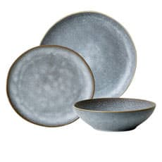 Salisbury & Co Siena <b>Dinner</b> Set 12pc Charcoal
