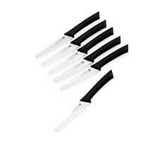 Scanpan Spectrum 6pc Steak Knife Set Black