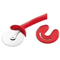 Scanpan Spectrum Soft Touch Pizza Cutter with Sheath Red