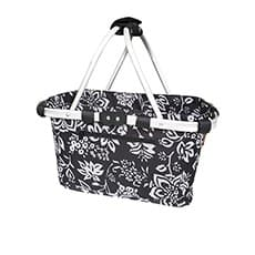 Sachi Carry <b>Basket</b> Double <b>Handle</b> Camellia Black
