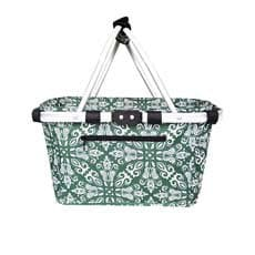 Carry Basket Double Handle Bohemian Green