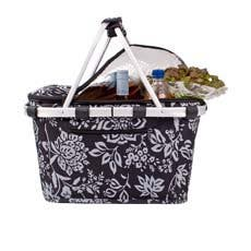 Sachi Insulated Carry Basket with Lid Camelia Black