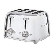 Smeg 50's Retro Style 4 Slot Toaster Chrome