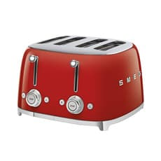 Smeg 50's Retro Style 4 Slot <b>Toaster</b> Red