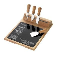 Symphony Bon Appetit 6pc <b>Cheese</b> Board & Knife Set Magnetic Strip